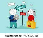 love meeting   Shutterstock .eps vector #43510840
