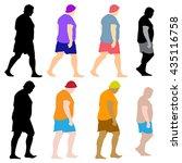men silhouette illustration ... | Shutterstock .eps vector #435116758