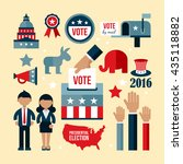 presidential election icon set. ... | Shutterstock .eps vector #435118882