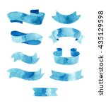 hand drawn watercolor tapes ...   Shutterstock . vector #435129598