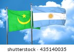 mauritania flag with argentine... | Shutterstock . vector #435140035