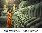novices monk vipassana... | Shutterstock . vector #435140692