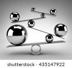 balance concept   3d rendering | Shutterstock . vector #435147922