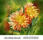 Gold And Orange Dahlias With...