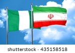 nigeria flag with iran flag  3d ...   Shutterstock . vector #435158518