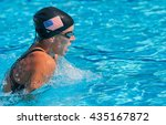 american breast stroke swimmer | Shutterstock . vector #435167872