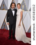 Small photo of LOS ANGELES, CA - FEBRUARY 28, 2016: Director Alejandro Gonzalez Inarritu & Maria Eladia Hagerman at the 88th Academy Awards at the Dolby Theatre, Hollywood.
