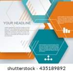 vector design   hexagons macro  ... | Shutterstock .eps vector #435189892