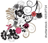 illustration of a floral... | Shutterstock .eps vector #43519714