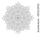 floral elements. monochrome... | Shutterstock .eps vector #435213952