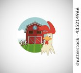 animal design. rooster icon.... | Shutterstock .eps vector #435214966