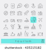 set of premium quality line... | Shutterstock .eps vector #435215182