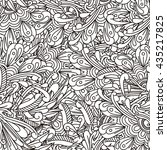 line drawing vector seamless...   Shutterstock .eps vector #435217825