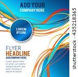 flyer or brochure template ... | Shutterstock .eps vector #435218365