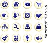 internet icon buttons original... | Shutterstock .eps vector #43522465