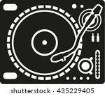 professional turntable equipment | Shutterstock .eps vector #435229405
