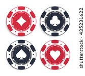 poker chips set. illustration... | Shutterstock .eps vector #435231622