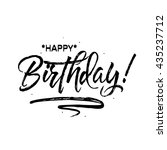 happy birthday. beautiful... | Shutterstock .eps vector #435237712