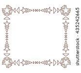 decorative geometric borders or ... | Shutterstock .eps vector #435242665