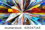stained glass series.... | Shutterstock . vector #435247165