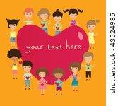 valentine kids   Shutterstock .eps vector #43524985