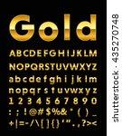 gold letter   Shutterstock .eps vector #435270748