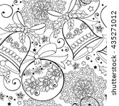 hand drawn ornament with... | Shutterstock .eps vector #435271012
