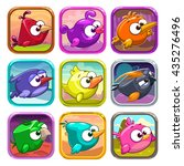 funny cartoon birds app icons ...