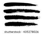 set of black paint  ink brush... | Shutterstock .eps vector #435278026