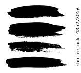 set of black paint  ink brush... | Shutterstock .eps vector #435278056