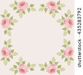 decorative frame flowers style... | Shutterstock .eps vector #435283792