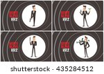 vector set of images of a black ... | Shutterstock .eps vector #435284512