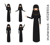 the beautiful muslim woman in a ... | Shutterstock .eps vector #435285016