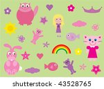 collection of fun elements for... | Shutterstock .eps vector #43528765