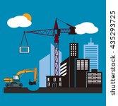 construction of modern city ... | Shutterstock .eps vector #435293725