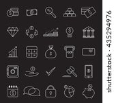 outline web icon set   money | Shutterstock .eps vector #435294976