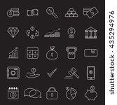 outline web icon set   money | Shutterstock .eps vector #435294976