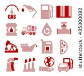 gasoline  gas  oil icon set | Shutterstock .eps vector #435300082
