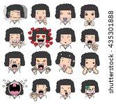 set of cartoon character... | Shutterstock .eps vector #435301888