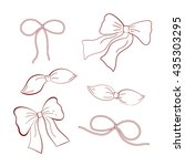 set of bows   Shutterstock .eps vector #435303295
