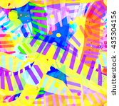 colorful light texture strips... | Shutterstock .eps vector #435304156