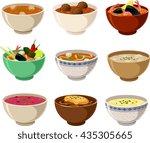 vector illustration of various... | Shutterstock .eps vector #435305665