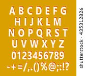orange 3d font set symbols ... | Shutterstock .eps vector #435312826