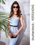 hot summer girl beauty sexy... | Shutterstock . vector #435314242