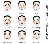 best make up for different... | Shutterstock .eps vector #435323686