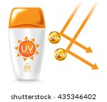 uv protection pack and reflect... | Shutterstock .eps vector #435346402