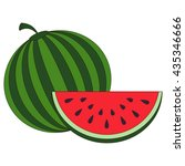 sweet watermelon cartoon.... | Shutterstock .eps vector #435346666