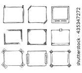 sketch of hand drawn frame set  ...   Shutterstock .eps vector #435347272