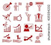 profit  gain icon set   Shutterstock .eps vector #435354232