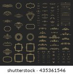 wicker lines and decor elements ... | Shutterstock .eps vector #435361546